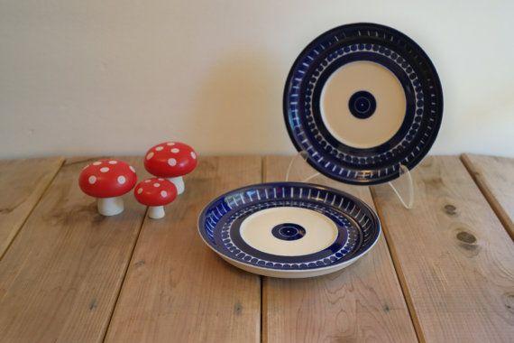 Vintage Arabia Finland Valencia Saucer Plates / Ulla Procope / Scandinavian Decor