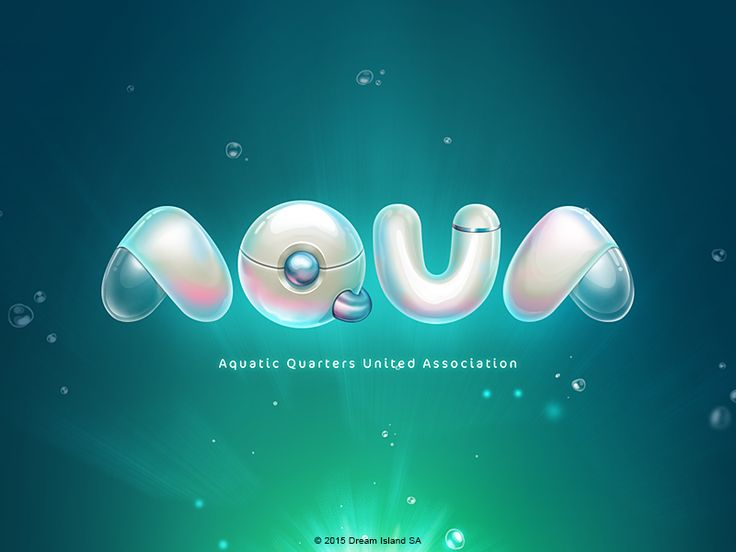 AQUA Logo by Davlikanoff Design