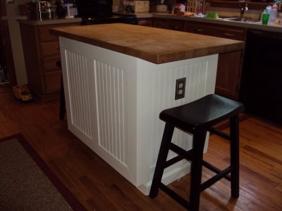 Bead Board Wainscoting Kitchen Island Breakfast Bar