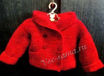 Жакетик с капюшоном для малыша, фото