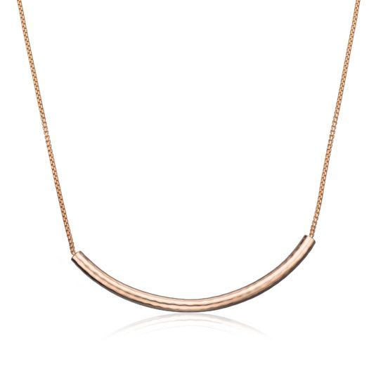 Rose Gold Vermeil Esencia Long Chain Necklace