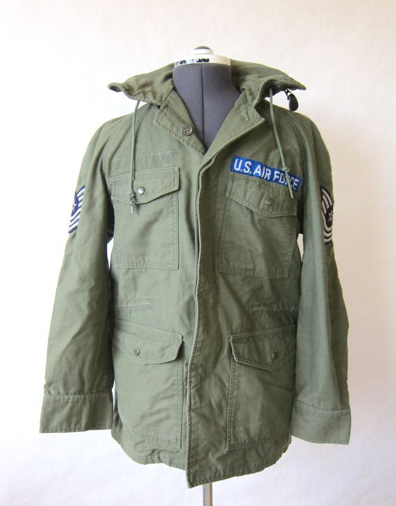 The Spring Line is here! Check it out! Vintage Green Air Force US Military Jacket by PaperDarlings, $85.00