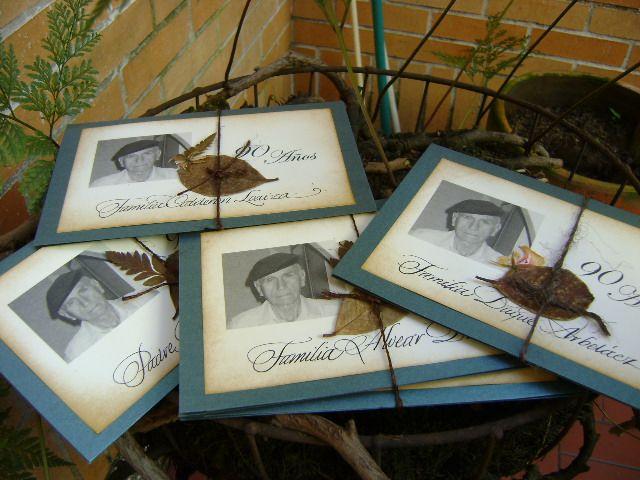 tarjetas de invitacin para fiestas y de cumpleaos de adultos mayores