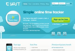 YAST time tracking software