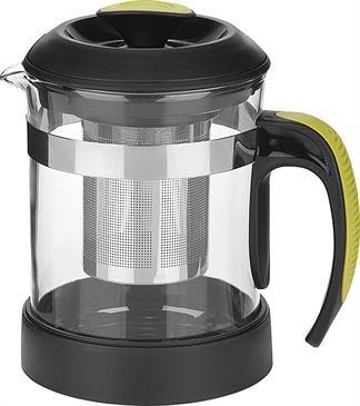 La théière Trudeau de 600 ml est équipée d'un verre borosilicate résistant à la chaleur, d'un infuseur en acier inoxydable 18/8 amovible à l'épreuve de la rouille et d'une poignée confortable avec coupe-chaleur pour protéger les doigts des brûlures au contact du verre chaud.  A retrouver sur http://www.thekitchenette.fr/Produits/Details/416 #théière #trudeau #verre #vert