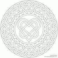 Celtic Heart Coloring Pages coloring book pictures on pinterest coloring pages for ...