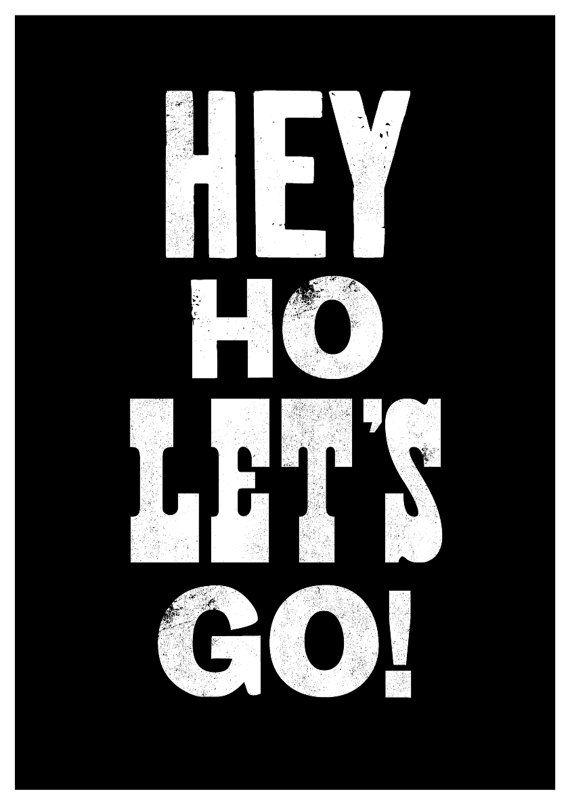 The Ramones art print song lyric art music by TheIndoorType