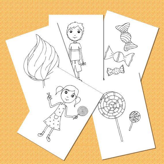 Set de 5 Páginas para Colorear para Niños  por JarilloColoringArt