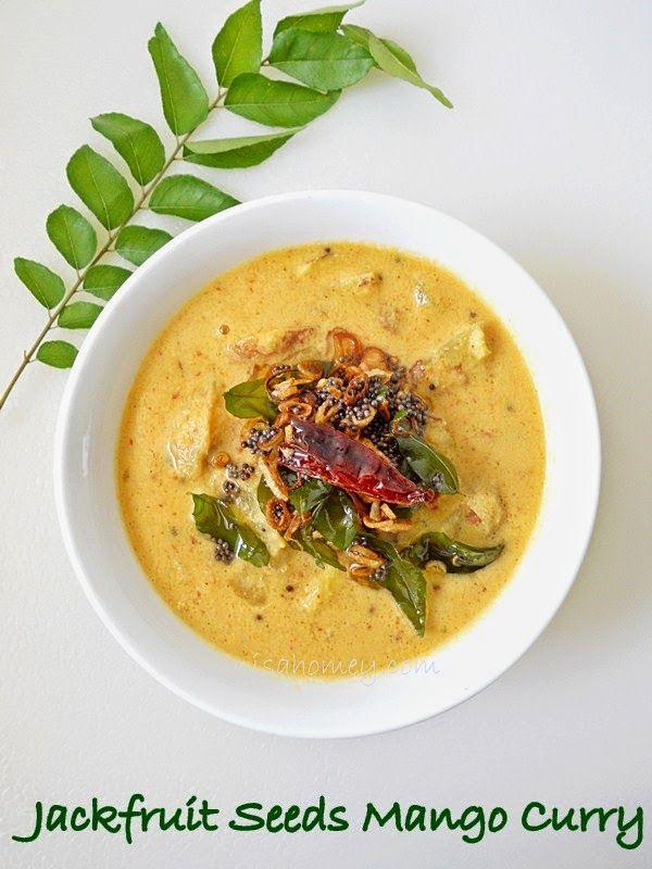 Chakkakuru Manga Curry / Jackfruit Seeds Mango Curry.....step by step picture tutorial.