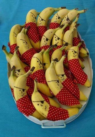 Healthy party tips | Treats | Snacks |-TIP- Pirate bananas