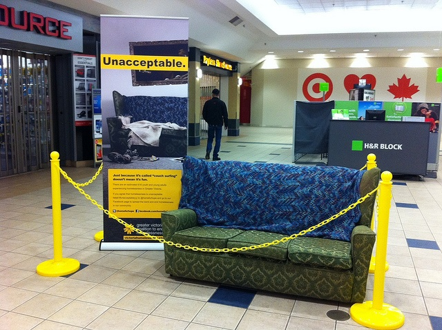 Unacceptable | Couch by Greater Victoria Coalition to End Homelessness, via Flickr #unacceptableyyj