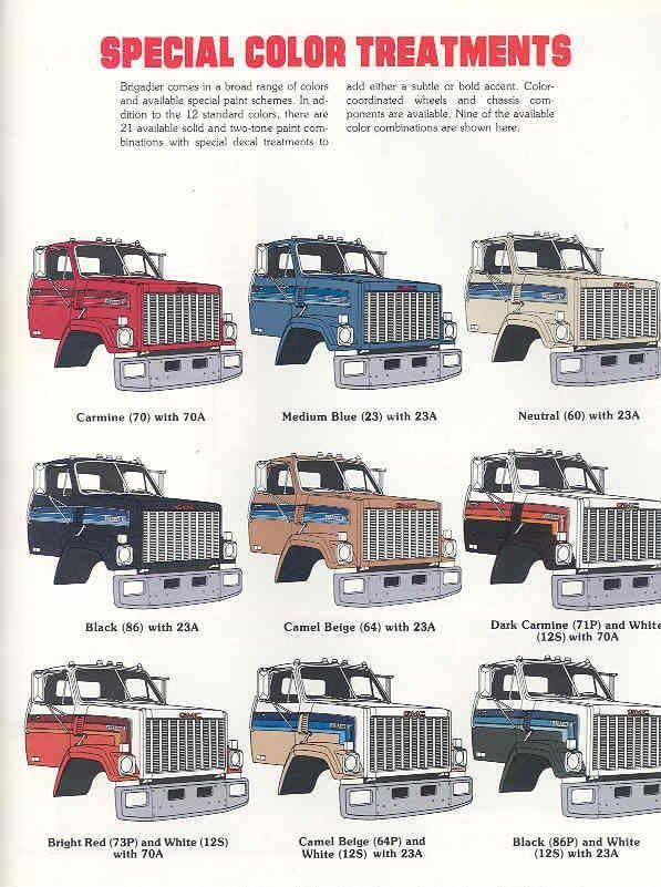 1974 9500 Conventional Cab Gmc Sales Brochure Big Trucks Gmc