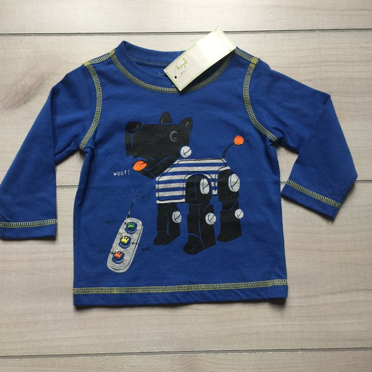 NEW First Impressions Blue Remote Control Dog Shirt