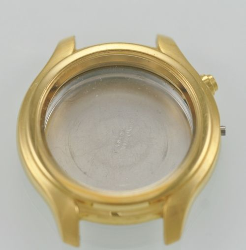 Seiko Kinetic Windward Men's Gold Watch Case Stainless Steel SKH046
