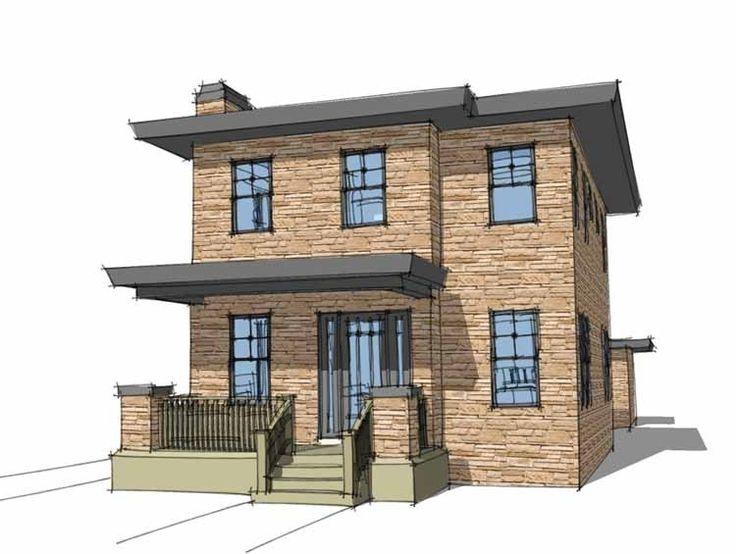 slant roof style house plans