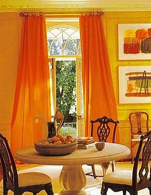 Orange dining rooms