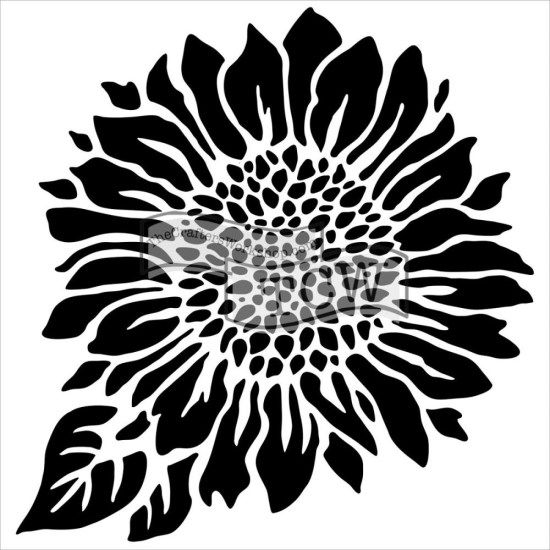 Crafters Workshop Mini 6x6 Template Joyful Sunflower