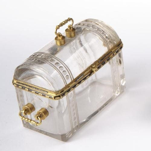 A GOLD-MOUNTED ROCK CRYSTAL COFFRET, PROBABLY GERMAN, 16TH CENTURY  Don't care! I NEED!!:): Crystals Coffret, Clutches, Gold Mount Rocks, Rocks Crystals, Crystals Platters Stemwear, Crystals Coffer, Antiques Crystals Boxes
