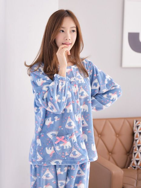 Banibella winter sleepwear / Polar Bear Microfiber sleepwear / cozy and comfortable / winter pajamas