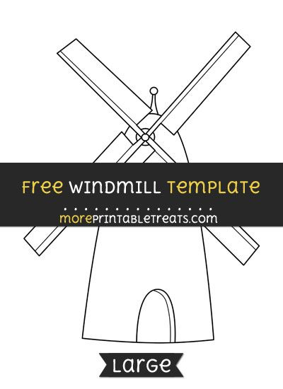 free windmill template large shapes and templates printables