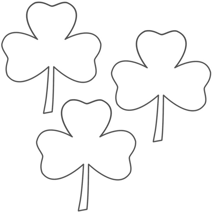 It's just a graphic of Accomplished St Patrick's Day Clover Printable