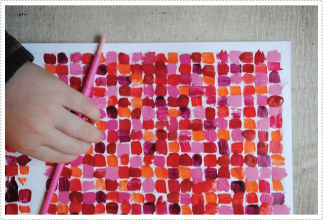 Valentines grid by a little boy (with help from mum)Colors Theory, Homemade Valentine, For Kids, Diy Art, Valentine Day Cards, Valentine Cards, Valentine Ideas, Painting Colors, Art Projects