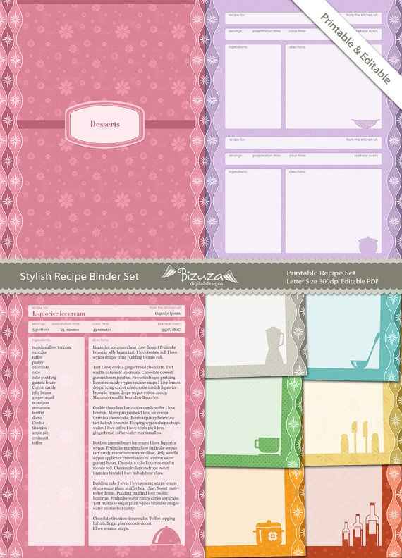 347 best Printable Recipe Cards images on Pinterest | Printable ...
