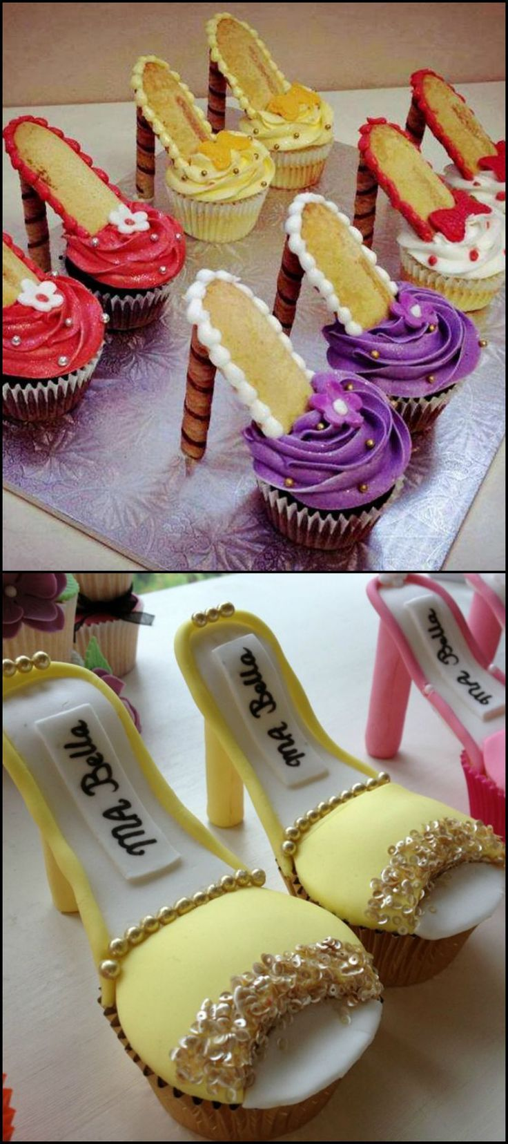 Best 25 High Heel Cupcakes Ideas On Pinterest High