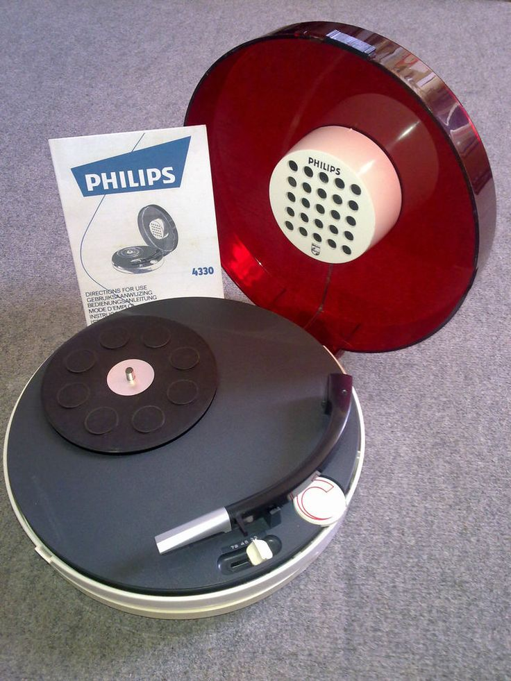 tourne disque Philips curling electrophone no teppaz thorens radiola space age
