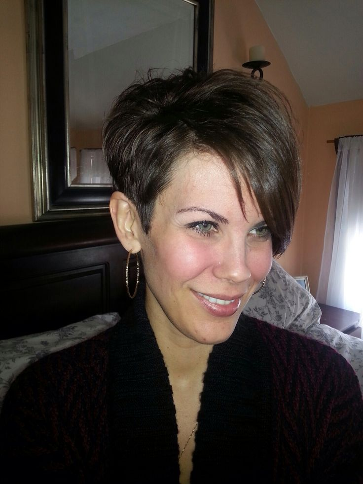 Pixie cut, long bangs. this is basically how my how will look after a trim