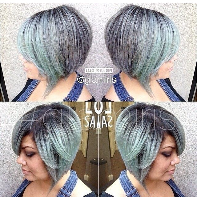 Stormy Blue-grey Bob With Shadow Roots
