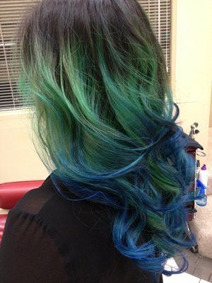 44 best images about Blue/Green on Pinterest | Green ...  Ombre