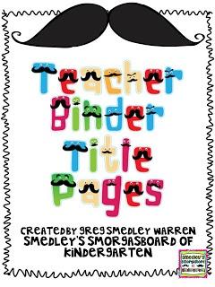 Free! Smedleys Smorgasboard of Kindergarten: A Kindergarten Smorgasboard Monday Made It Teacher Binder!