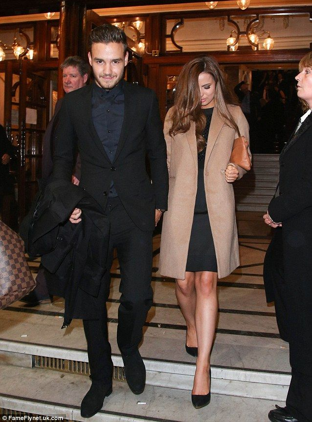 Date night: Liam Payne took girlfriend Sophia Smith to see Robbie Williams at London's Palladium on Friday night