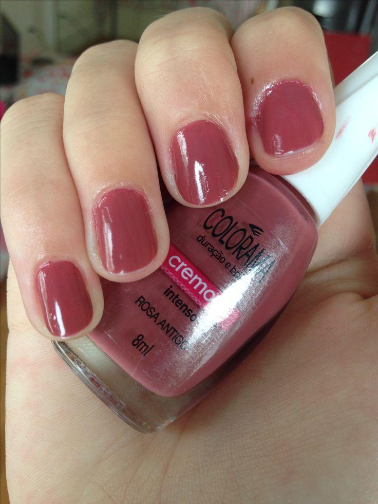 esmalte rosa antigo-colorama