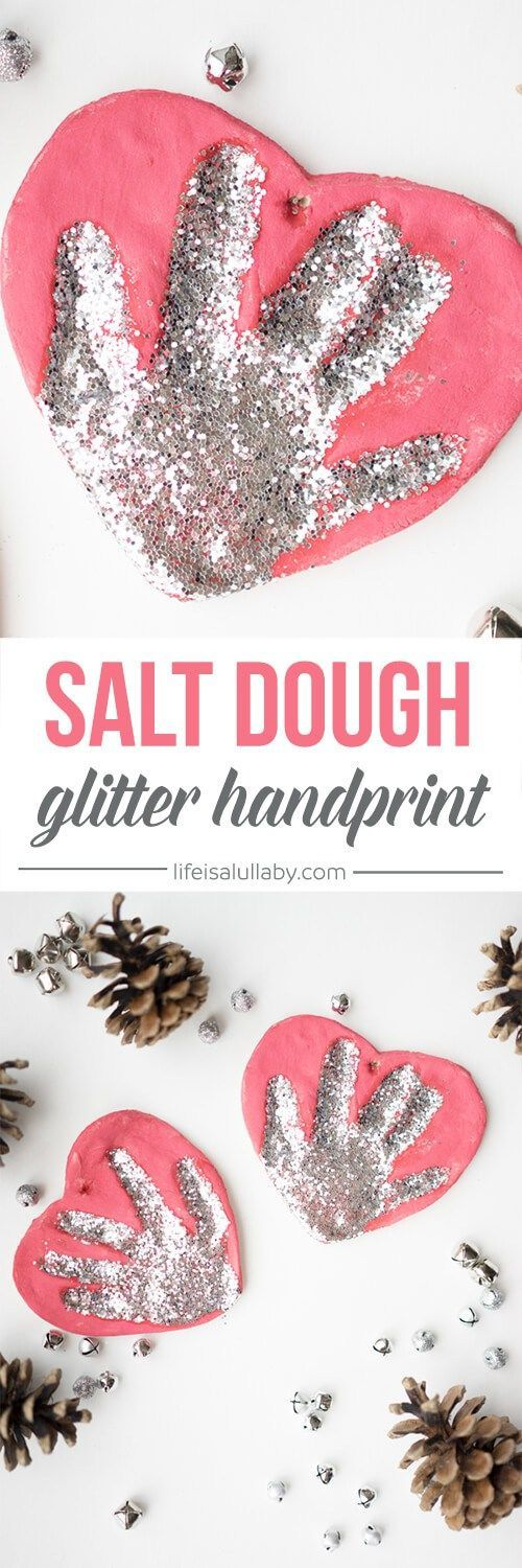Salt Dough Handprint Ornaments: Make a memory of your little ones hand and cherish on the Christmas tree. You could easily make a new one every year!
