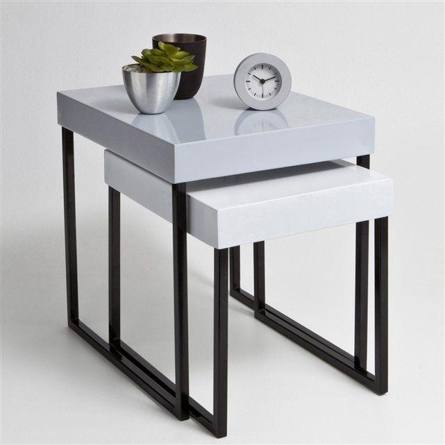 1000 id es sur le th me pied de table metal sur pinterest for Table gigogne blanche