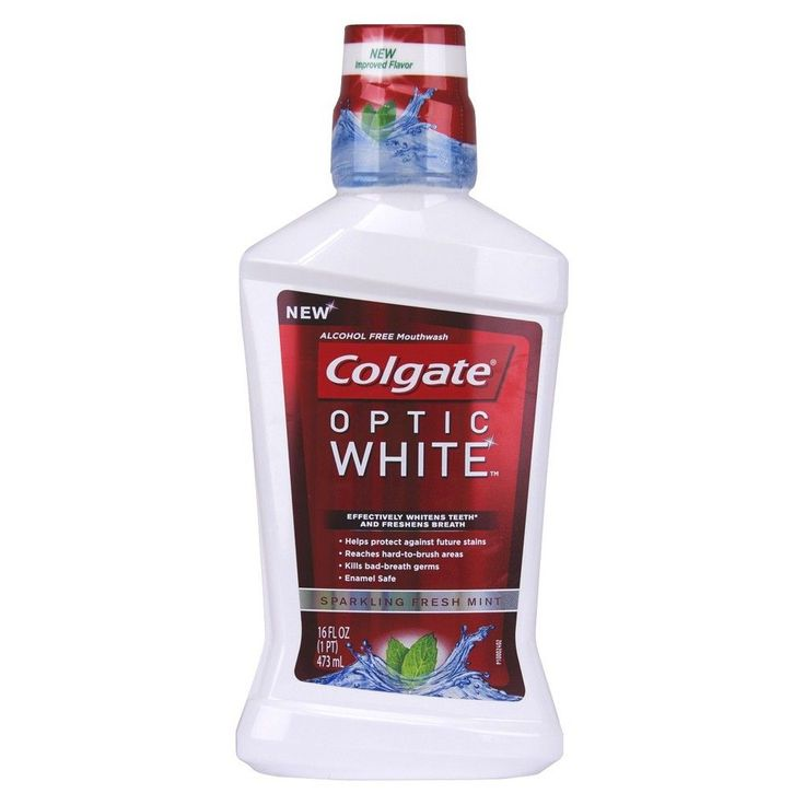 Colgate Optic White Sparkling Fresh Mint Mouthwash 16oz