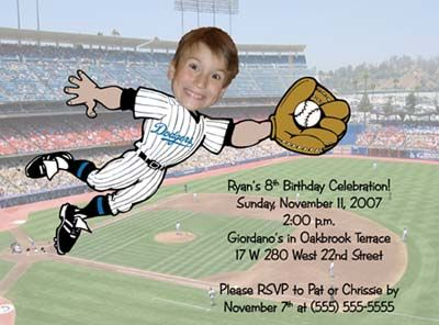 Baseball Invitations | Make Homemade Birthday Invitations