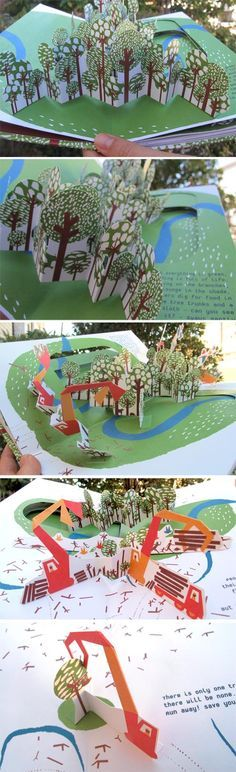 In the Forest - a pop-up book - internals 2