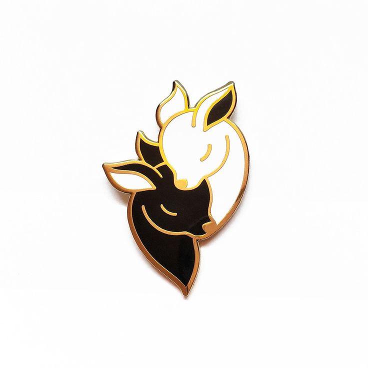 Image of Deer Pin - Black