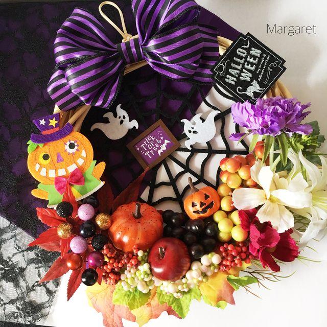 秋の果実とハロウィンパーティーリース Diy And Crafts, Halloween Costumes, Wreaths, Food, Decor, Decoration, Eten, Decorating, Deco