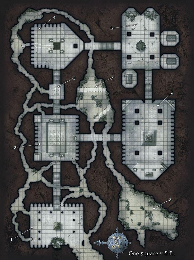 1013 1355 fantasy floor plans for Floor 2 dungeon map