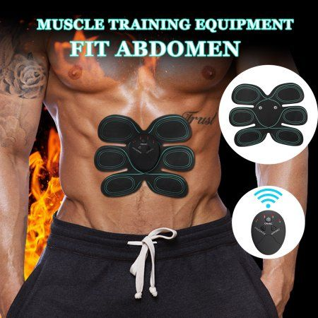 91d52f5849f39 6 Modes Abs Muscle Stimulator Training Body Shape Fit Set Fitness Massage Home  Trainer  fitnessabs