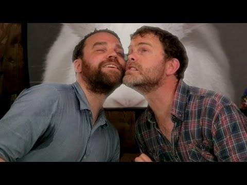 """""""... lets touch beards."""" Rainn & Scott Hutchison of Frightened Rabbit - Metaphysical Milkshake."""