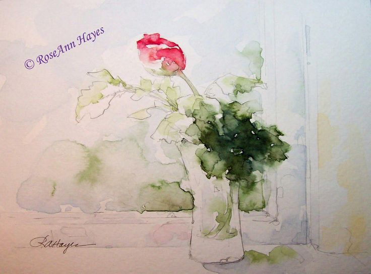 61 Best Watercolor Flowers Rose Ann Hayes Images On Pinterest Water Colors Watercolors And