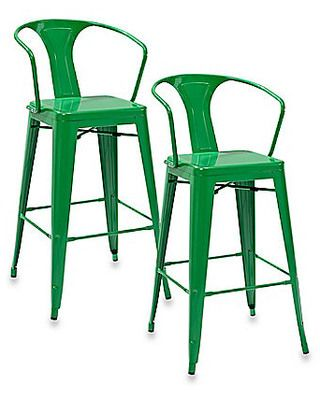 Love the green bar stools