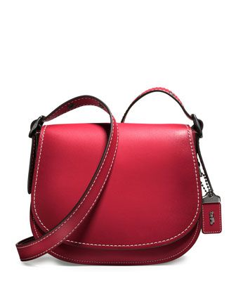 23+Leather+Saddle+Bag,+Red+by+Coach+1941+at+Neiman+Marcus.