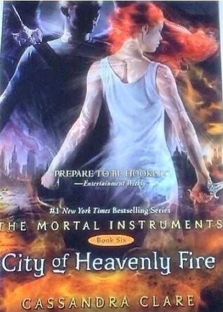 City Of Heavenly Fire Clare Has Confirmed That The Boy On Cover Is Sebastian Johnathan And Clary Wearing White With Wedding Runes