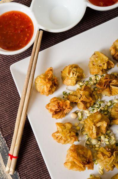 Colțunași (wontons) umpluți cu carne de porc și creveți - KissTheCook/ Deep fried with shrimp and pork #shanshi #theasianconnection